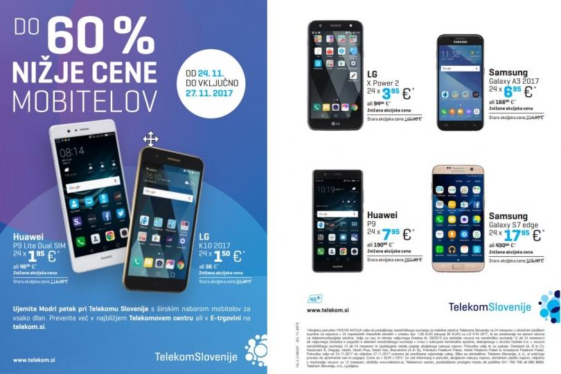 Modri PETEK, do 60% nižje cene mobitelov1
